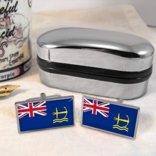 Royal Maritime auxiliaires Boutons de manchette pour homme Motif drapeau
