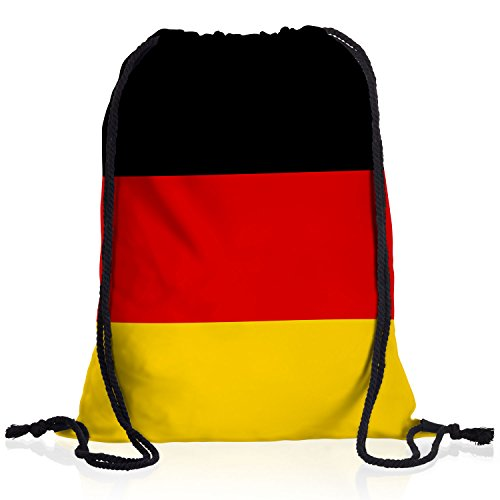 style3 Deutschland Turnbeutel Rucksack Tasche Germany Flagge WM EM Sport Beutel Festival Fahne Uni Schule Bunt
