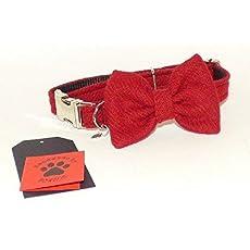 Harris Tweed Muted Multi Stripe Designer Dog Collar Bow Tie