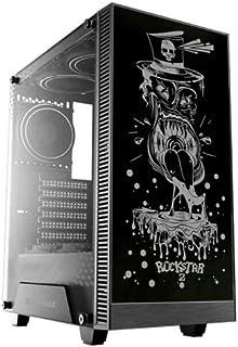 Gamemax Rockstar G515 Temp Glass Rgb Fan Sync Color Changes Front Panel Atx Computer Case - Black | Rockstar G515