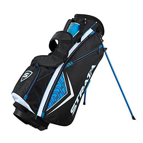 Strata Golf Club Set, Right Hand, Steel, 12 Piece Package Set, Blue, Mens Sports Apparel & Equipment Sporting Goods