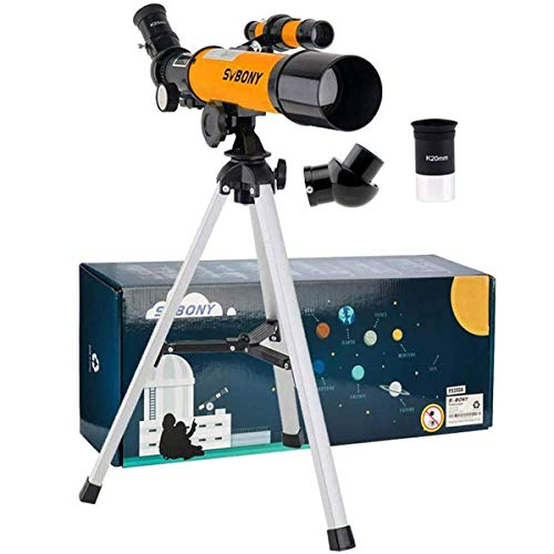 SVBONY SV502 Telescope for Kids, 50mm Kid Telescope, and 5X20 Finder Scope, Gift for Exploring Moon Science Education