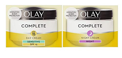 Olay Complete 3in1 Sensitive SPF15 Day Cream and Night Cream Moisturiser 50ml (Bundle set)