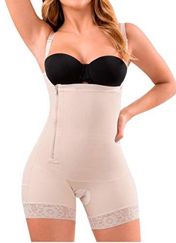 LT.ROSE 21111 Fajas Colombianas Postparto Cesarea Reductora y Moldeadora Control de Abdomen para Mujer Beige M 🔥