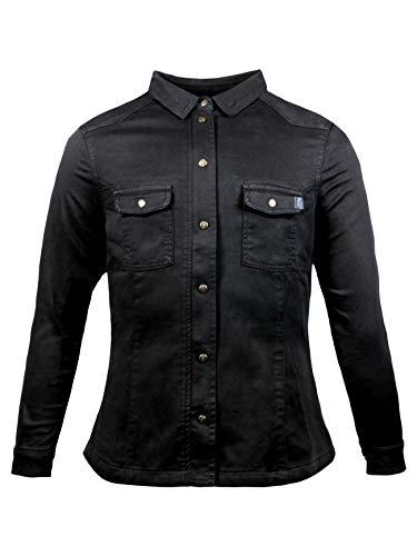 John Doe Damen Motoshirt XTM | Motorradjacke | XTM | Atmungsaktiv | Motorrad Motoshirt | Protektoren sind enthalten (Ellbogen und Schulter)