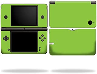 MightySkins Skin Compatible with Nintendo DSi XL wrap Sticker Skins Solid Green