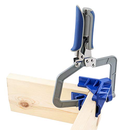 QWORK 90 Degree Corner Clamp, 3in. Throat Corner Joining Tool for Wood-working, Welding, Photo Frame