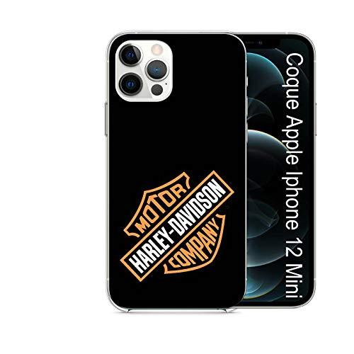 Super FABRIQUE - Cover morbida in silicone trasparente per Apple iPhone (7/8 Plus - X/XR/XS/XS Max/11/11Pro/11 Pro Max) Logo Harley Davidson (12 Mini)