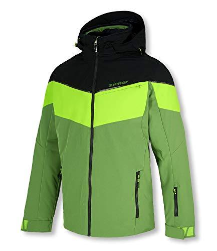 Ziener Takosh Herren Ski Snowboardjacke grün schwarz (50)