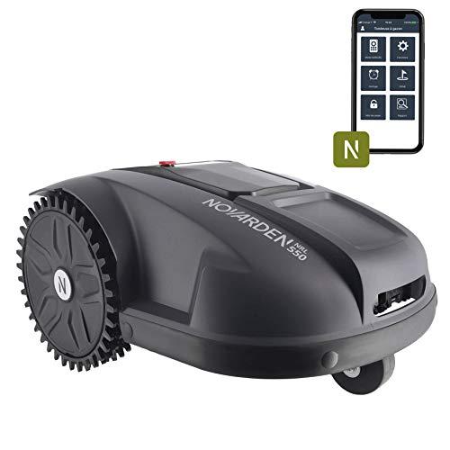 NOVARDEN NRL550 Connect - Tosaerba robotico - (Prato fino a 500 m², 6 zone, taglio regolabile tra 25 e 55 mm, 2 ore di autonomia, collegato IOS & Android)