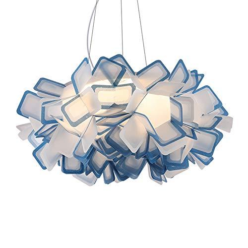 Lámparas de acrílico led para sala de estar, sala de comedor, lámparas de dormitorio, azul, 50 * 20 cm