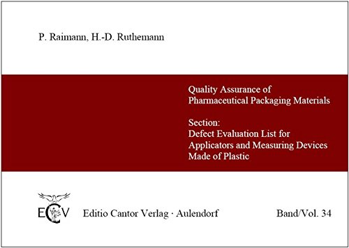 Fehlerbewertungsliste für Applikatoren und Messeinrichtungen aus Kunststoff /Section: Defect Evaluation List for Applicators and Measuring Devices ... and Cosmetic Packaging Materials)