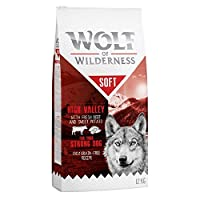 61% muscle meat and other meat components Suitable for dogs with grain allergies Enriched with forest berries, roots and wild herbs With fresh beef meat - tasty and well accepted Semi-moist food for adult dogs: softer kibble with 18% moisture content