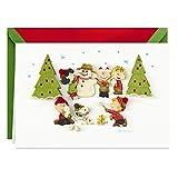 Hallmark Signature Peanuts Christmas Card (Fun and Frosty Christmas)