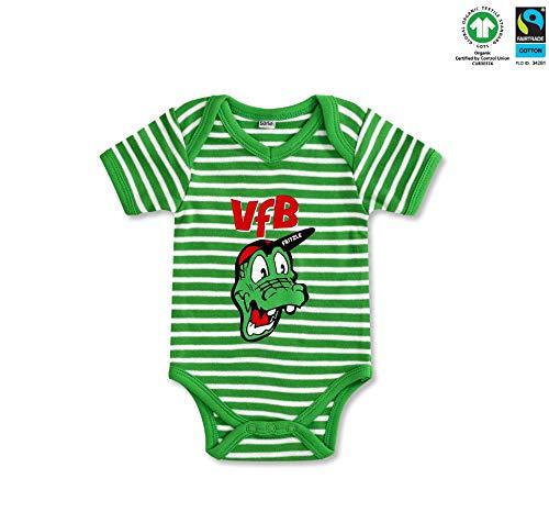 VfB Stuttgart GOTS Baby Body Fritzle grün in 3 Größen verfügbar (50/56-74/80) VfB Fairplay Fairtrade! (50/56)