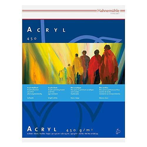 Hannemuhle: Acryl Paint-Board 42x56cm 450gsm: 10 Blatt: hochweiss: Schwergewicht: verklebt auf allen 4 Seiten