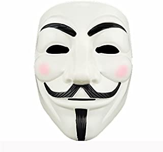 Adorox (1 Mask V for Vendetta White Costume Face Mask Anonymous Guy Fawkes