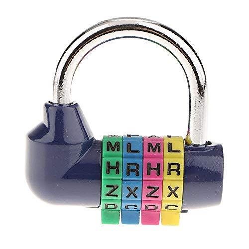 YANGMAN-L Zahlenschloss, 4 Digit Schreiben Passwort-Sicherheit Vorhängeschloss für Heim Tor Fall Toolbox Gym Schule und Mitarbeiter Locker