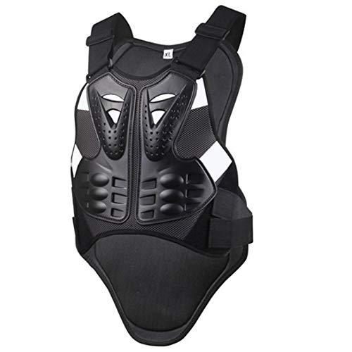 KKmoon Chaqueta de protecci/ón para Motocross Color Negro para Hombre y Mujer Talla M con Protector de Espalda ATV