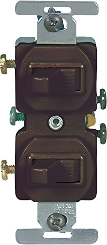 Eaton 271B 15 Amp Commercial Grade Toggle Duplex Switch, Brown