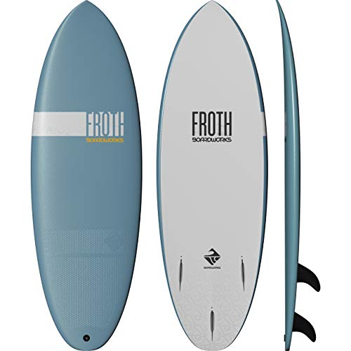 Boardworks Froth! | Soft Top Surfboard | 3 Fins | Wake Surfboard | 5' 6' | Sky, (Model: 4430299508)