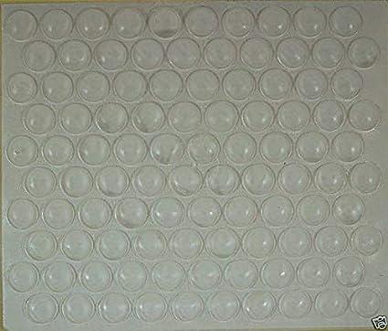 Lot de 50 amortisseurs de but/ée de porte /à percer en plastique transparent 5 mm