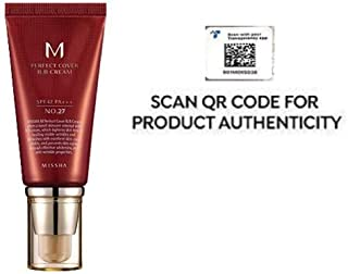 Missha M Perfect Cover BB Cream SPF 42 PA+++, Amazon Code Verified for Authenticity, 50ml, Concealing Blemishes, dark circles, UV Protection (#27 Honey Beige)
