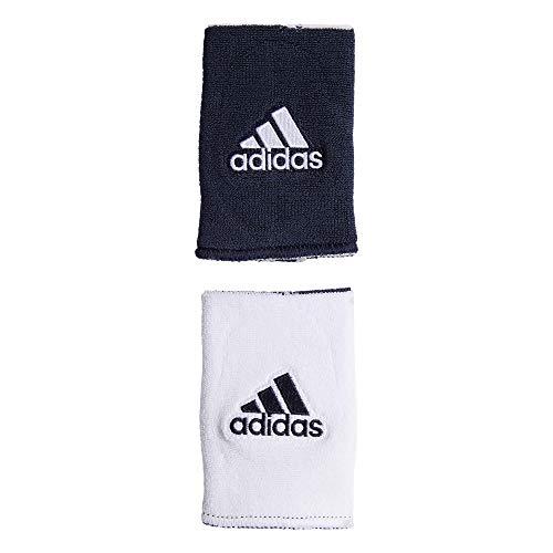 adidas Unisex Interval Large Reversible Wristband, Team Navy Blue/White White/Team Navy Blue, ONE SIZE