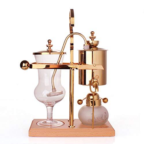 Siphon Kaffeekanne Belgischer Topf Siphon Kaffeekanne Competition Pot, abnehmbar, pflegeleicht, für Cafes und Familien (Gold)