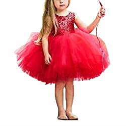 Red Toddlers Sequin Tutu Dress