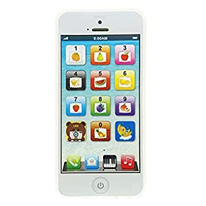YOYOSTORE Phone Toy Play Mobile Cell Phone Music Learning for Child Toddle Baby Kid (White) by YOYOSTORE