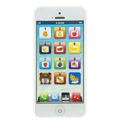 YOYOSTORE Phone Toy Play Mobile Cell Phone Music Learning for Child Toddle Baby Kid (White) from YOYOSTORE