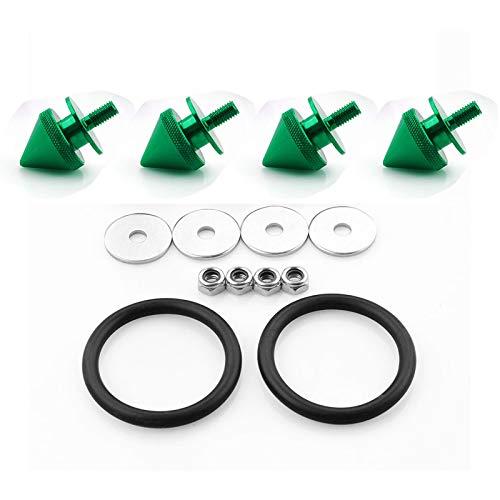 4 cierres para maletero de coche, kit de cierre rápido (verde)