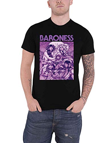 Baroness T Shirt Purple Album Cover Band Logo Nue offiziell Herren
