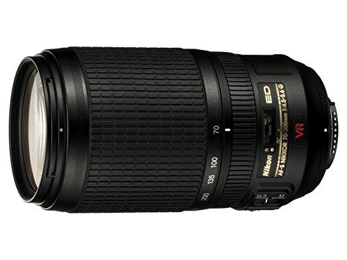 Nikon AF-S VR Zoom-Nikkor 70-300mm F4.5-5.0GV RIF-ED AF-S NIKKOR Obiettivo, Nero [Nital Card: 4 Anni di Garanzia]