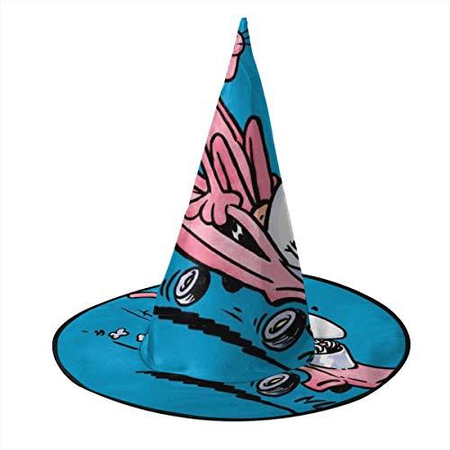 NUJSHF Pink Panther Calvin and Hobbes Mix Hexenhut Halloween Unisex Kostüm für Urlaub Halloween Weihnachten Karneval Party