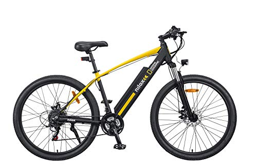 Nilox X6 National Geographic Bicicleta eléctrica, Unisex Adulto, Negro y Amarillo, M