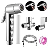 XYCING Handheld Bidet Sprayer for Toilet, 4 Modes Water Spray Filtration Design with PP Cotton Filter, Upgraded Shattaf for Personal Hygiene, Baby Cloth Diaper Sprayer, Pet Bathing, Bathroom Cleaning