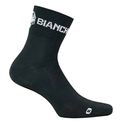 Bianchi Milano Asfalto Calzini da Ciclista, Black, S Regular Unisex-Adulto