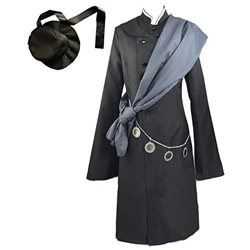YLJXXY Black Butler Cosplay Kostüm Kuroshitsuji Undertaker Cosplay Schwarz Outfit mit Hut Full Set,Men,S