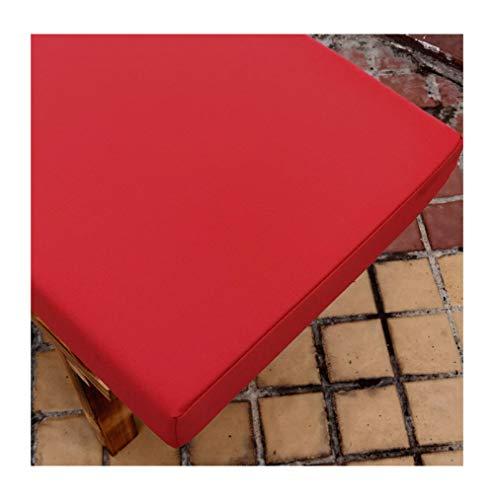 bandezid Cojines para Muebles de jardín Lounge sillas de Mimbre de Exterior 35D Sponge 5cm Grueso Acolchado Garden Market Place Impermeable Cojín para Banco de jardín-Rojo 200×30×5cm(79×12×2in