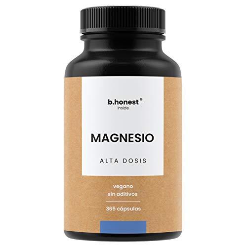 Magnesio - 365 cápsulas para 12 meses - 664 mg, de los cuales 400 mg de magnesio puro (elemental) por cápsula - Vegano, alta dosis, probado en laboratorio, fabricado en Alemania