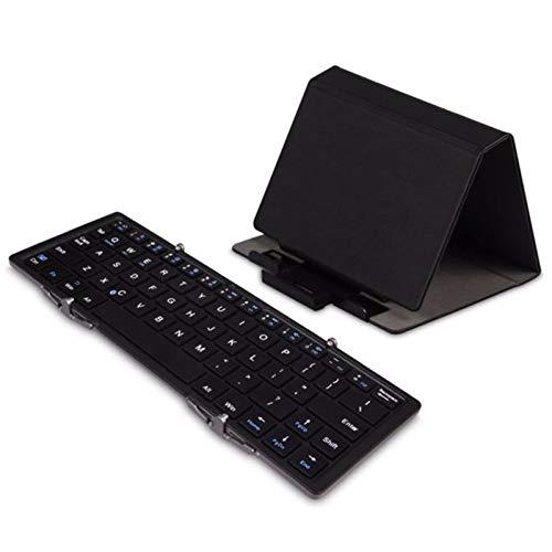 NBSLA EC Technology Portable Bluetooth Keyboard, Portable Bluetooth Keyboard for iPhone iOS, iPad, Android, Windows, Black Keyboard, Ergonomic Keyboard Wireless, US in Stock
