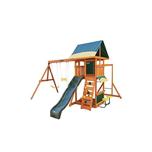 Big Backyard Brightside Wooden Swing Set by KidKraft