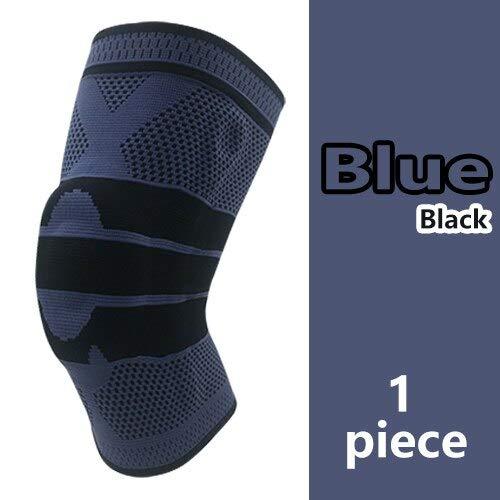 Equipo de protección de Silicona con Soporte de Resorte paraRodilleras de Voleibol de protecciónDeportiva- Azul, S