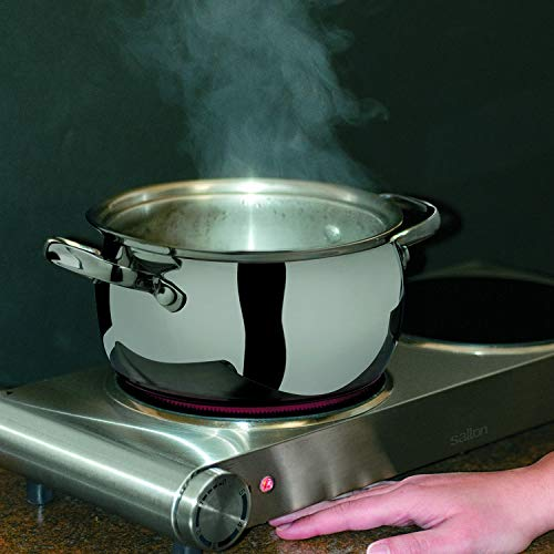 Salton Double Stainless Steel Cooktop