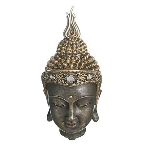 Figura Buda de Resina Dorada exótica de 20x11x9 cm - LOLAhome