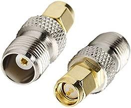 2 PCS DHT Electronics RF coaxial coax adapter SMA male to TNC female