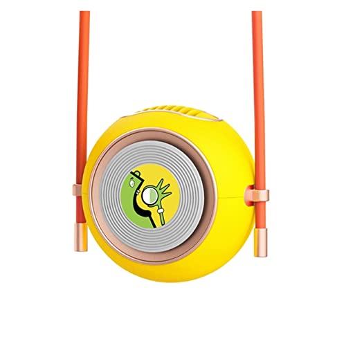 TIANYIA HEZB Ventilador de Cuello Colgante USB Mini Ventilador de Cuello sin brocha Manos Libres de Manos Libres de 2 Grados Aganecientes for Viajar, Deportes, Oficina (Color : Yellow)