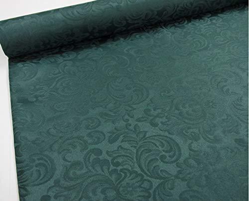 Confección Saymi Tela Raso Brocado, 2,45 MTS Ref. Damasco, Color Verde Botella, con Ancho 2,80 MTS.